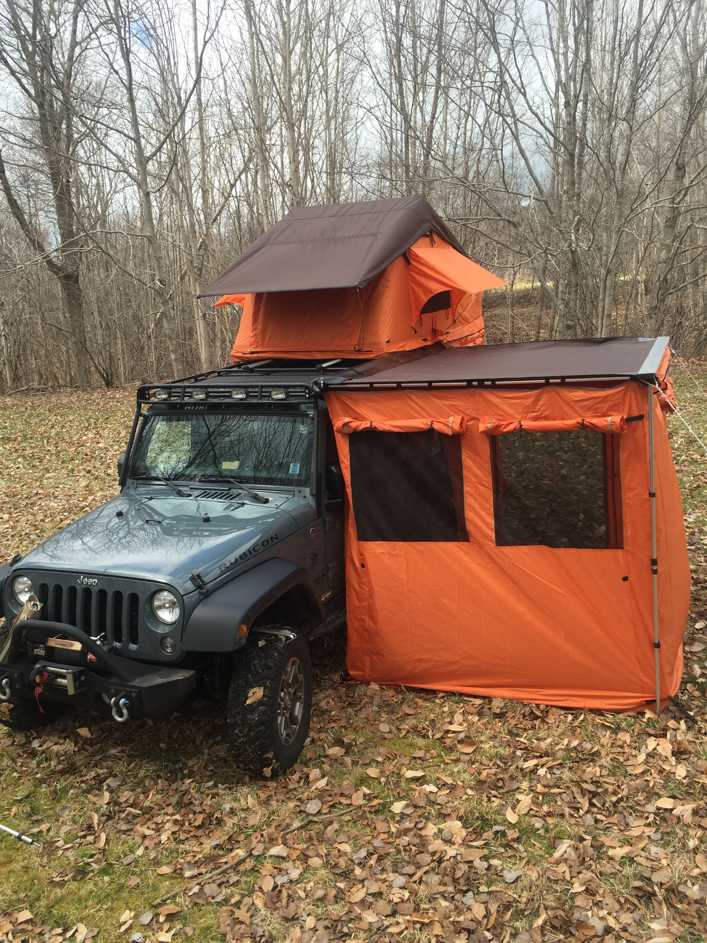 Firefly Roof Top Tent With The Awning And Awning Room